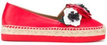 Sonia Rykiel - Espadrillas con applicazioni - women - Calf Leather/Leather/rubber - 36, 37, 38, 39, 41 - RED