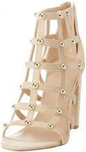 Guess Footwear Dress Shootie, Scarpe Col Tacco Punta Aperta Donna, Avorio (Light Natural), 38 EU
