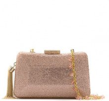 Serpui - embellished clutch - women - Polyester - OS - PINK & PURPLE