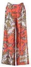 Betsy Pantaloni da spiaggia con spacco con stampa sciarpa