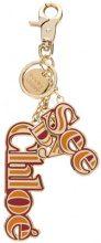See By Chloé - logo keyring - women - Zama - OS - METALLIC