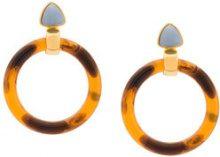 Lizzie Fortunato Jewels - Sunset hoop earrings - women - plastic - OS - BROWN
