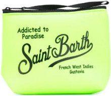 Mc2 Saint Barth - logo print zip clutch - women - Neoprene - OS - GREEN
