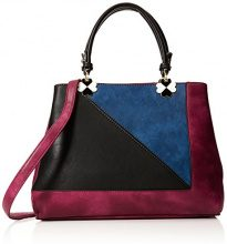 Swankyswans Violet Color Block Handbag - Borse Tote Donna, Rosa (Fuschia), 12x28x30 cm (W x H x L)