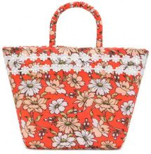 Faliero Sarti - Borsa con stampa floreale - women - Cotton/Polyester - OS - YELLOW & ORANGE