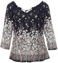 Blusa off-shoulder floreale