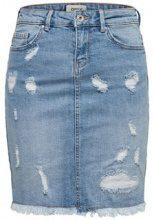 ONLY Destroyed Denim Skirt Women Blue