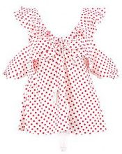Eliza Polka Dot Ruffle Top
