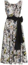 Prada - Vestito con fiocco - women - Cotton - 38, 40, 42, 44, 46 - WHITE