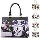 Big Handbag Shop Borsa Audrey Hepburn Designer Stampa maniglia superiore borsa a tracolla