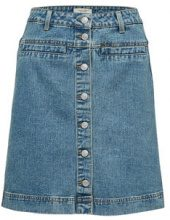 SELECTED High Waist - Denim Skirt Women Blue
