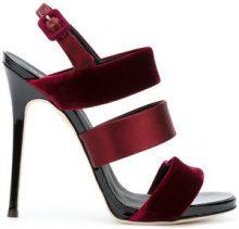 Giuseppe Zanotti Design - Sandali con tre cinturini - women - Velvet/Silk Satin/Leather - 36, 37.5, 38 - PINK & PURPLE