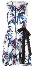 Emilio Pucci - tree print dress - women - Silk - 40 - WHITE