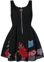 Philipp Plein - Loredan rose patch dress - women - Polyester - M - BLACK