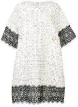 Faith Connexion - Abito decorato - women - Acrylic/Polyamide/Polyester/Wool - S - WHITE