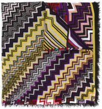 Missoni - Sciarpa con stampa zig zag - women - Linen/Flax/Modal - OS - RED