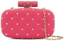Valentino - Borsa Clutch 'Valentino Garavani' - women - Calf Leather - One Size - PINK & PURPLE