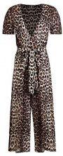 Janette Leopard Print Wrap Front Culotte Jumpsuit
