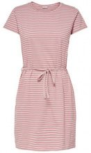 ONLY Striped Short Sleeved Dress Women Pink