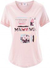 Maglia in filato fiammato a mezza manica (rosa) - bpc bonprix collection