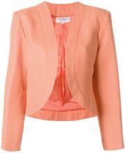 Yves Saint Laurent Vintage - Blazer senza bottoni - women - Cotone/Linen/Flax - 40 - Giallo & arancio