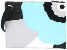 No Ka' Oi - floral print zipped clutch - women - Cotton/Polyamide/Polyurethane/Spandex/Elastane - OS - BLACK