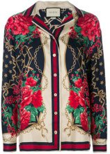 Gucci - floral chain print shirt - women - Silk/Cotone/Viscose - 38, 40, 42, 46, 48 - Multicolore
