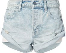 Alexander Wang - vintage-style rolled shorts - women - Cotone - 28 - BLUE