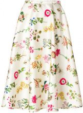 Nº21 - floral print skirt - women - Polyester/Cotone - 42, 40, 38, 44 - NUDE & NEUTRALS