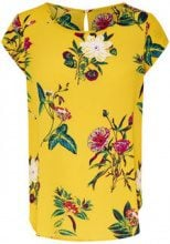ONLY Printed Short Sleeved Top Women Yellow
