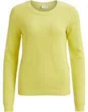 VILA Knitted Long Sleeved Top Women Yellow