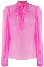 Dolce & Gabbana - Blusa con fiocco - women - Silk - 40 - PINK & PURPLE