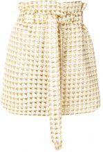 Maison Kitsuné - Minigonna metallizzata - women - Polyester/Wool/Metallic Fibre - 34 - NUDE & NEUTRALS