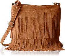Bags4LessTipsi - Borsa a tracolla Donna , Marrone (Braun (Cognac Braun)), 10x30x30 cm (B x H x T)
