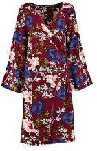 Abito longuette a portafoglio con motivi floreali Kara Kimono