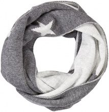 s.Oliver 39711918227, Sciarpa Donna, Grau (Grey/Black Placed Print 97D1), Taglia unica