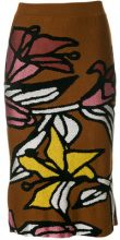 - Christian Wijnants - Gonna 'Khani' - women - fibra sintetica/lana vergine - XS, S - multicolore