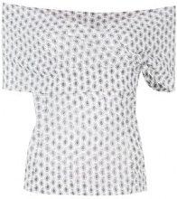 Etro - Top con stampa paisley - women - Silk/Spandex/Elastane - 40, 42, 44 - Bianco