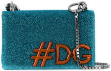 Dolce & Gabbana - DG Girls shoulder bag - women - Cotton/Leather/Polyester/Wool - OS - BLUE