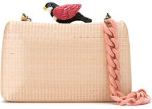Serpui - straw clutch - women - Straw - OS - PINK & PURPLE
