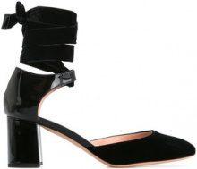 Rochas - Pumps con laccio alla caviglia - women - Silk/Calf Leather/Leather/plastic - 36.5, 37, 38, 40, 36 - BLACK