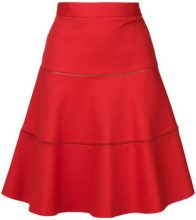 Red Valentino - A-line flared skirt - women - Cotton/Polyamide/Polyester/Spandex/Elastane - 42, 44 - RED