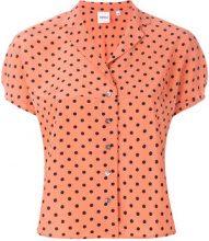 - Aspesi - Camicia con manica corta - women - Silk - 40 - Giallo & arancio
