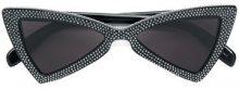 Saint Laurent Eyewear - Occhiali da sole dentellati - women - plastic - One Size - Nero