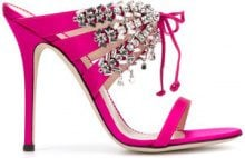 Giuseppe Zanotti Design - Sandali 'Madelyn' - women - Leather/Satin - 37, 38, 40 - PINK & PURPLE