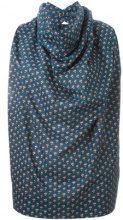 Vivienne Westwood Anglomania - rose print cowl neck blouse - women - Cotone - 42 - Blu