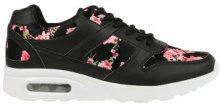 Sneakers con cuscinetto d'aria e stampa floreale