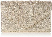 Swankyswans Wendy Glitter Envelope - Pochette da giorno Donna, Oro (Champagne Gold), 5x13.7x22.2 cm (W x H x L)