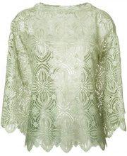 Ermanno Scervino - Blusa ricamata - women - Polyester - 40, 42, 44, 46 - GREEN