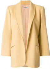 Yves Saint Laurent Vintage - Cappotto aperto - women - Silk/Wool - 38 - YELLOW & ORANGE